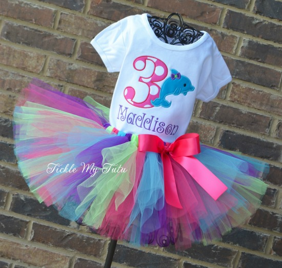 Dolphin Birthday Tutu Outfit