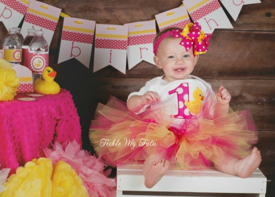 Rubber Ducky Themed Birthday Tutu Outfit