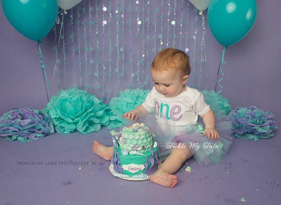 Elegant Lilac and Aqua Birthday Tutu Outfit