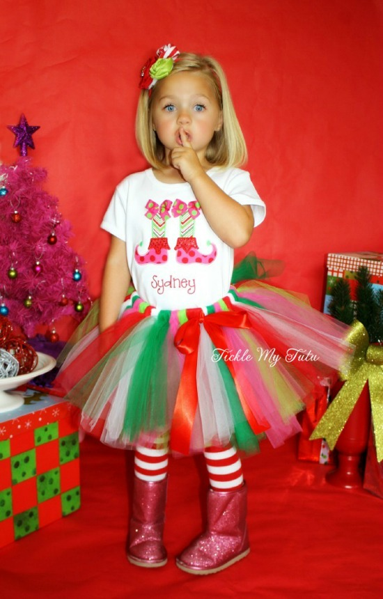 Lil' Elf Feet Christmas Tutu Outfit