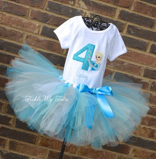 Elsa Birthday Number Tutu Outfit