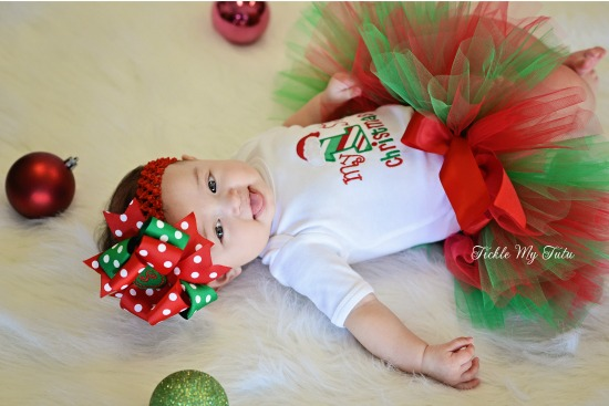 My First Christmas Tutu Outfit (Scout)