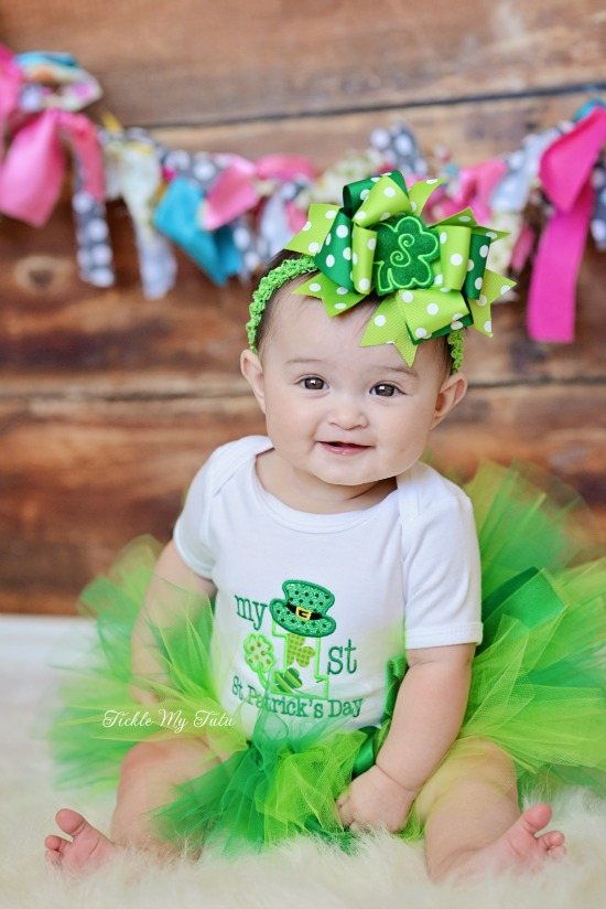 My First St. Patrick's Day Tutu Outfit