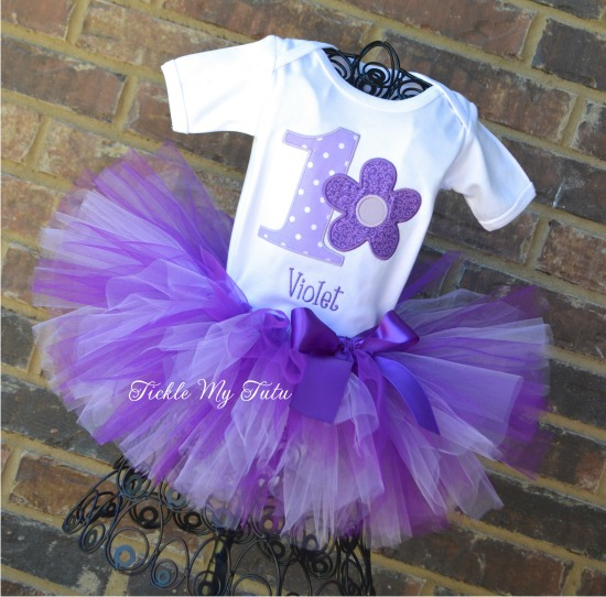 Flower Power Birthday Tutu Outfit (Purple)