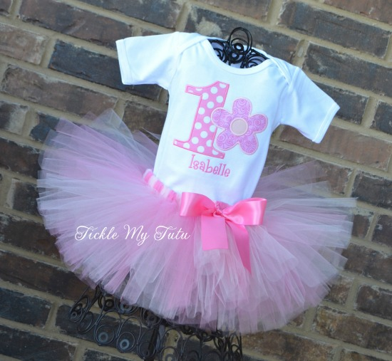Flower Power Birthday Tutu Outfit (Pink)
