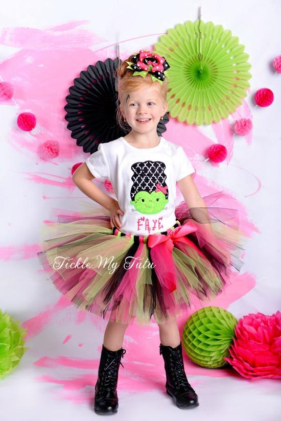 Frankenstein Girl Halloween Tutu Outfit