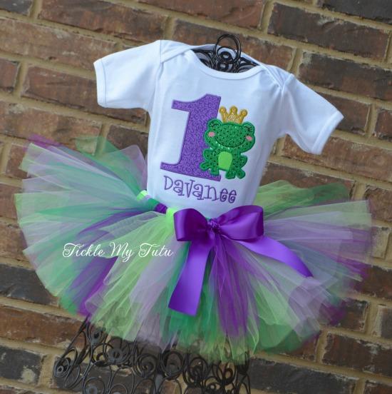 Frog Princess Birthday Tutu Outfit (purple)