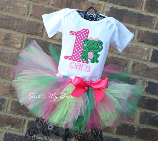 Frog Birthday Tutu Outfit