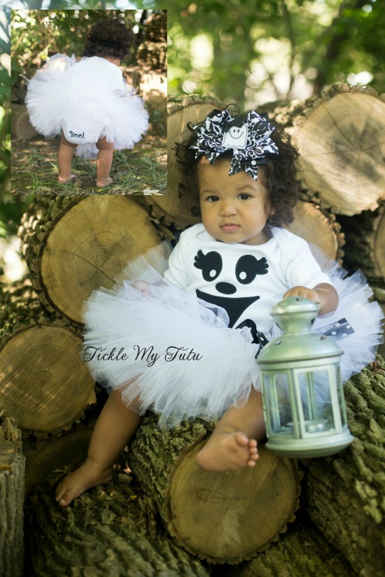 Greta the Ghost Halloween Tutu Costume (all white tutu)