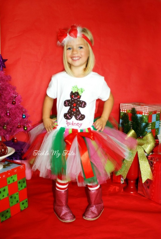Gingerbread Girl Christmas Tutu Outfit