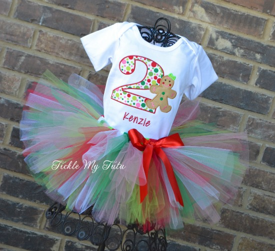 Gingerbread Girl Birthday Tutu Outfit
