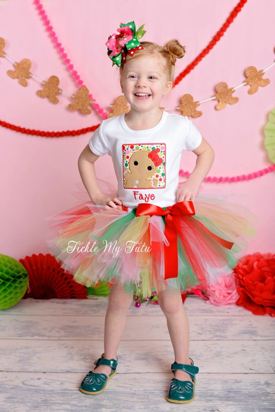 Gingerbread Cutie Christmas Tutu Outfit