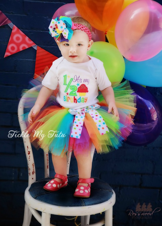 It's My 1/2 Birthday Multi-Colored Tutu Set