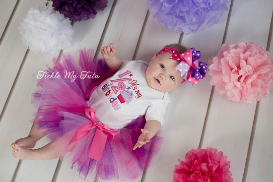 It's My 1/2 Birthday Pink and Purple Tutu Set