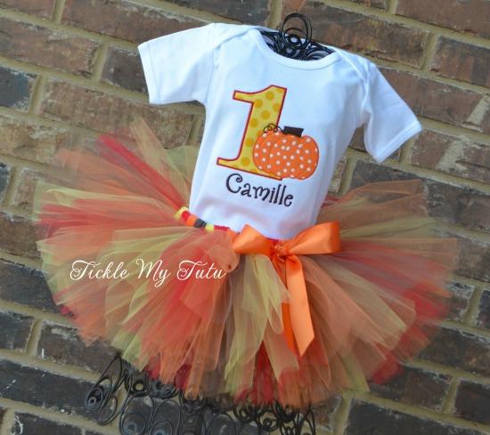 Harvest Little Pumpkin Birthday Tutu Outfit