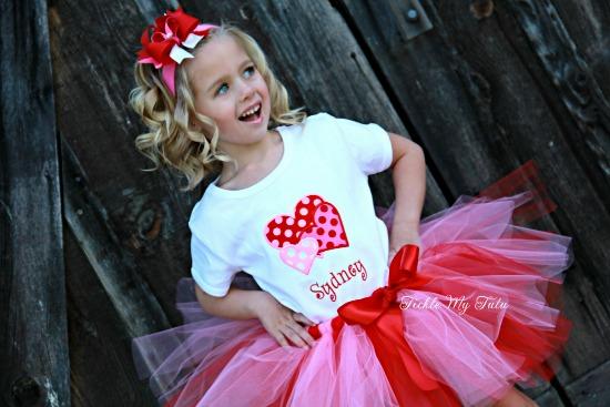 Valentine Heart Trio Tutu Outfit