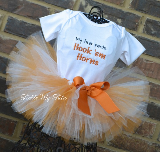 My First Words Hook 'em Horns Tutu Outfit