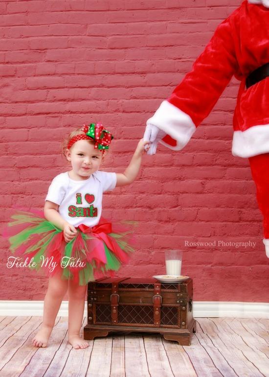 I Love Santa Christmas Tutu Outfit