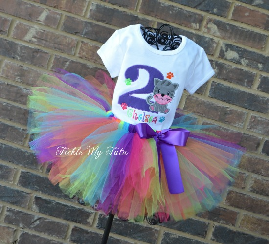 Kitty PAW-ty Birthday Tutu Outfit