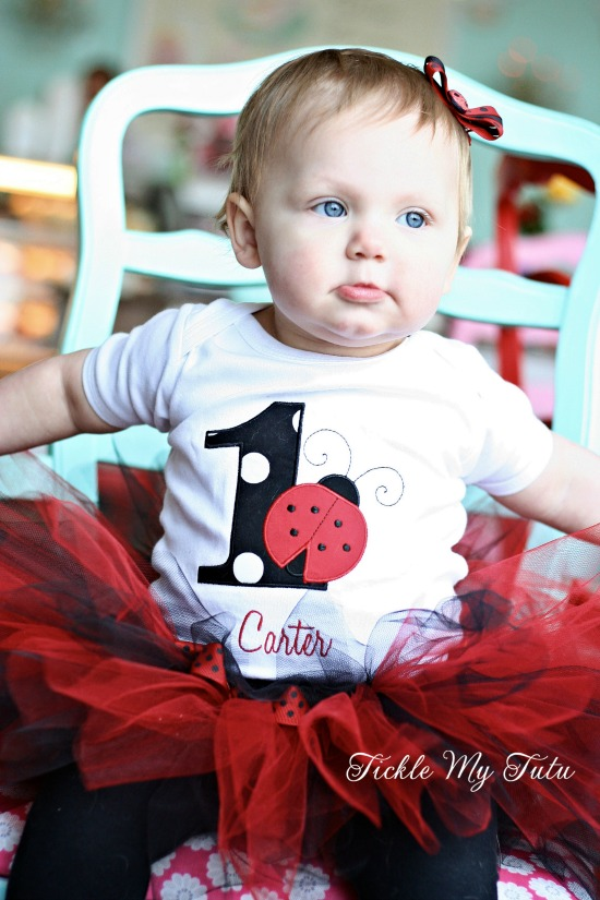 "Little Ladybug ""Carter"" Birthday Tutu Outfit"