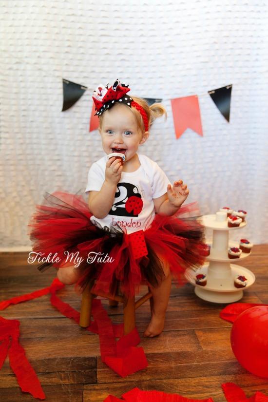 Little Ladybug Birthday Tutu Outfit