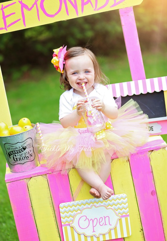 Pink Lemonade Stand Birthday Tutu Outfit
