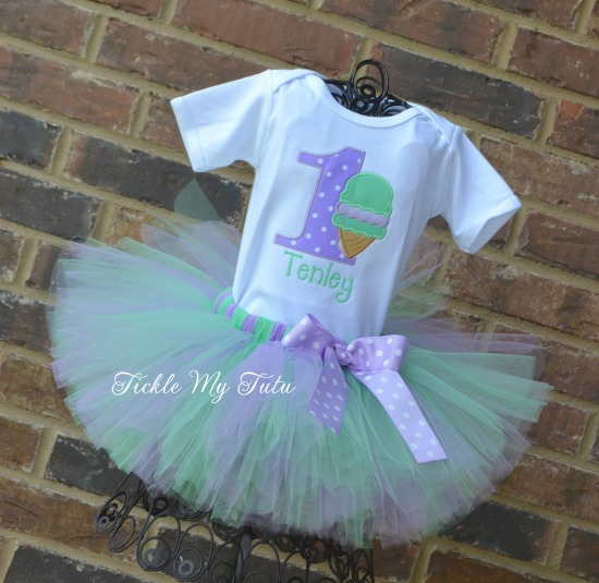 "Ice Cream Party ""Tenley"" Birthday Tutu Outfit"