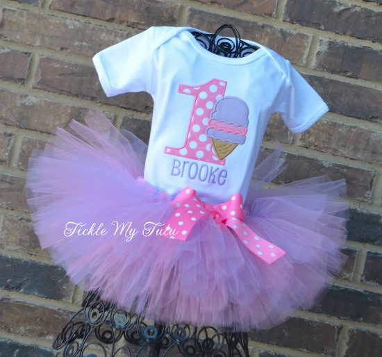 "Ice Cream Party ""Brooke"" Birthday Tutu Outfit"