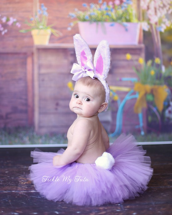 Little Bunny Tutu Costume (Lilac Tutu with Lilac Ears)