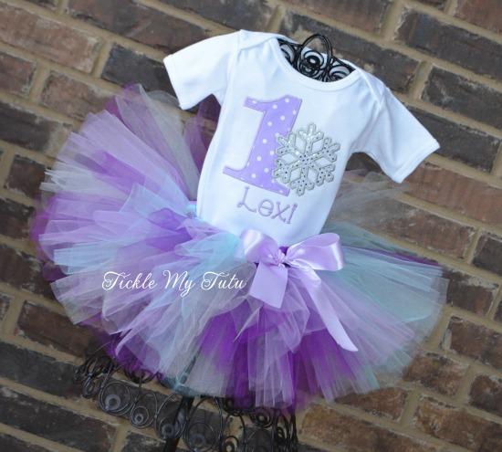 "Winter ONEderland Snowflake ""Lexi"" Birthday Tutu Outfit"