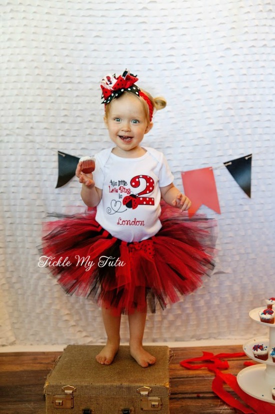 Little Lovebug Birthday Tutu Outfit