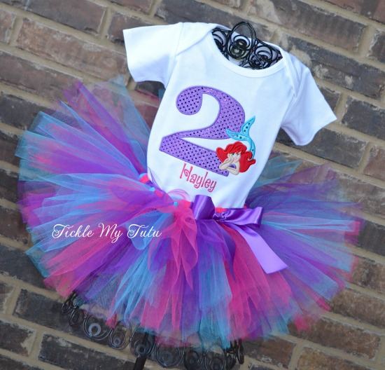 The Little Mermaid Birthday Tutu Outfit