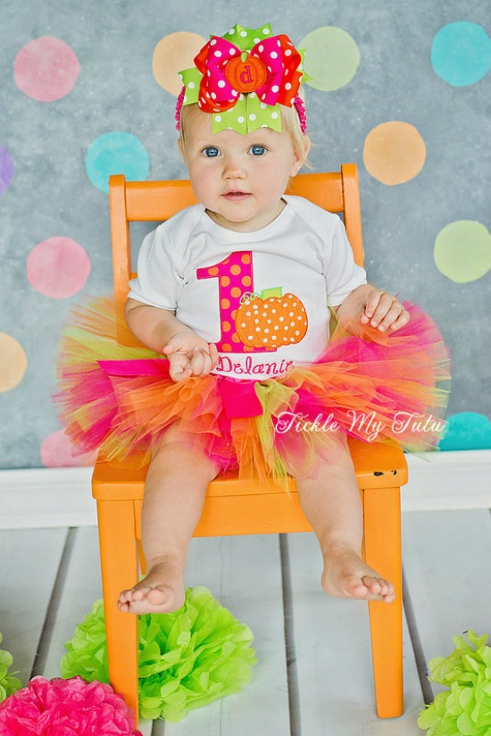 Little Pumpkin (Delanie) Birthday Tutu Outfit