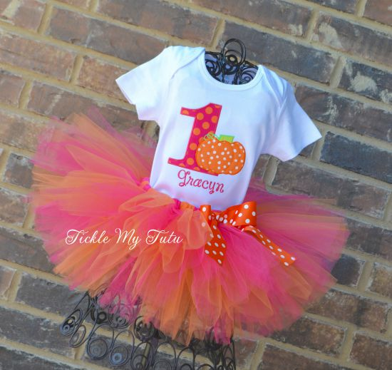 Little Pumpkin (Gracyn) Birthday Tutu Outfit