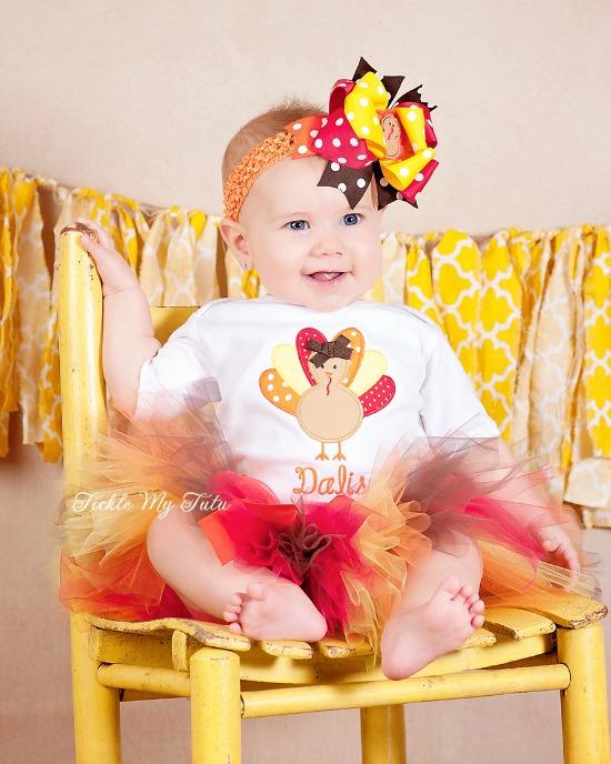 Little Turkey (Harvest Colors) Thanksgiving Tutu Outfit