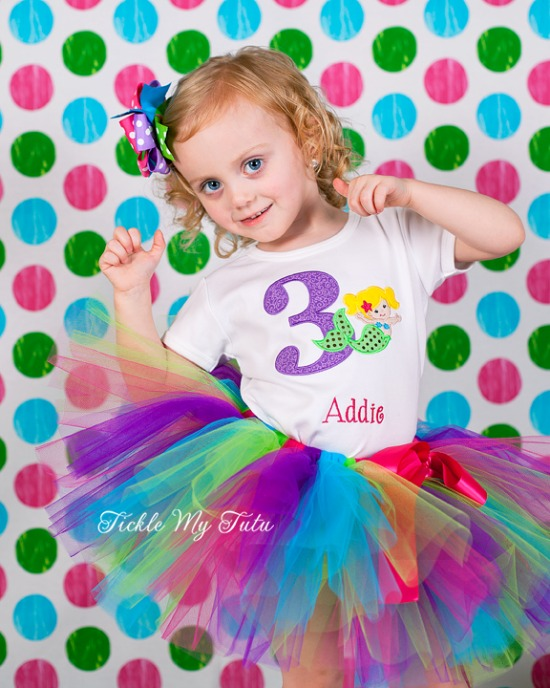 Merry Mermaid Birthday Tutu Outfit