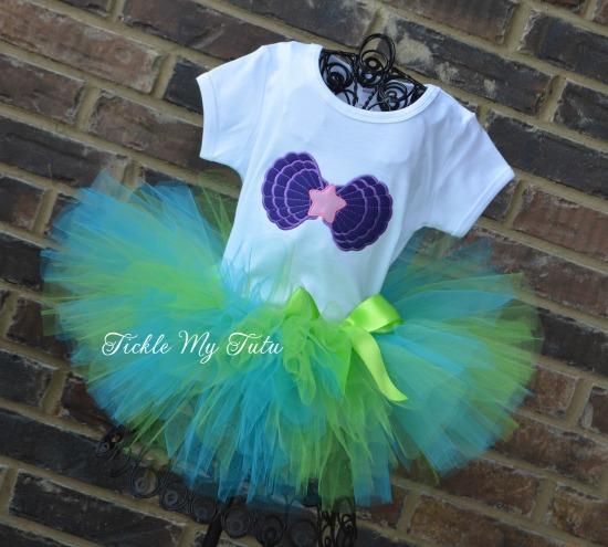 Mermaid Cutie Birthday Tutu Outfit