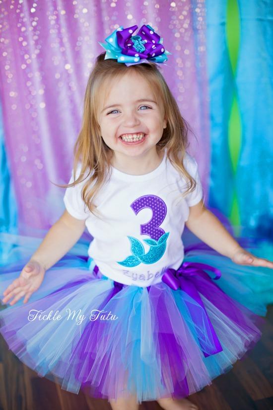 Mermaid Tail Birthday Number Tutu Outfit