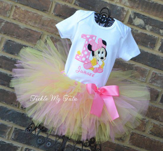 Minnie Baby Birthday Tutu Outfit