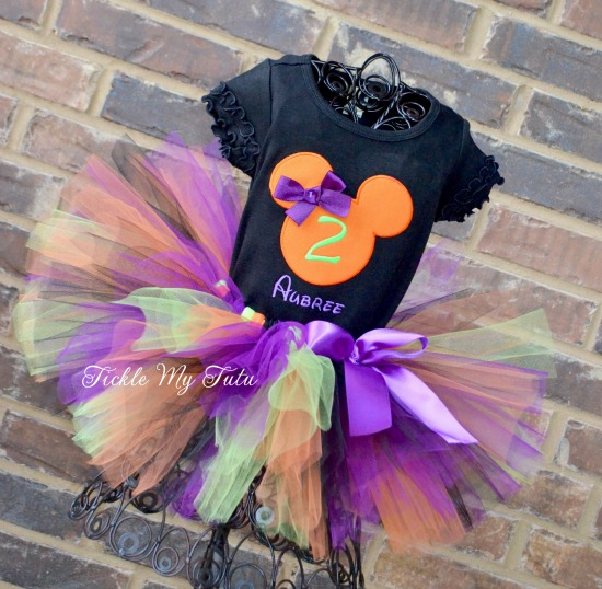 Minnie Mouse Halloween Birthday Tutu Outfit