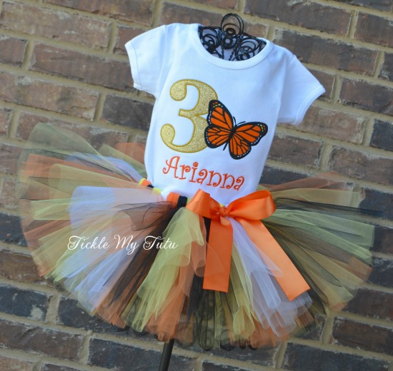 Monarch Butterfly Birthday Tutu Outfit