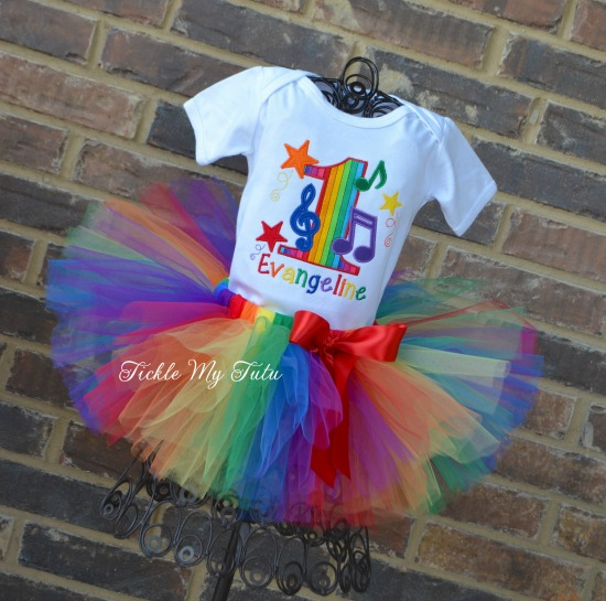 Music Themed Birthday Tutu Outfit
