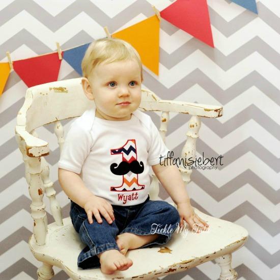 Little Man Mustache Bash Birthday Shirt