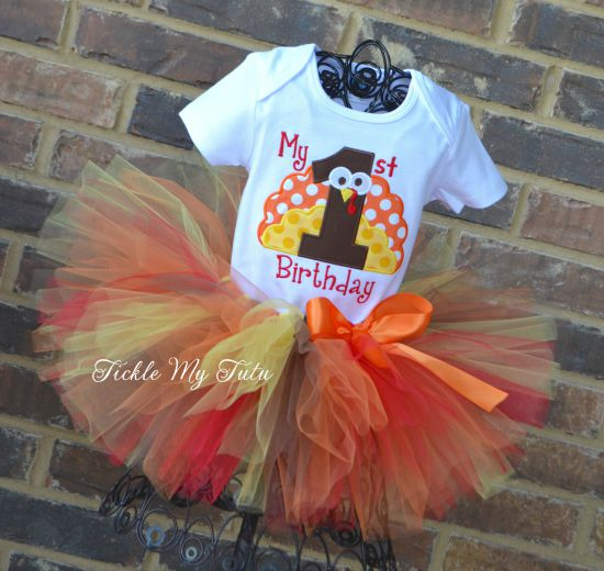 My First Birthday Thanksgiving Turkey Tutu Outfit