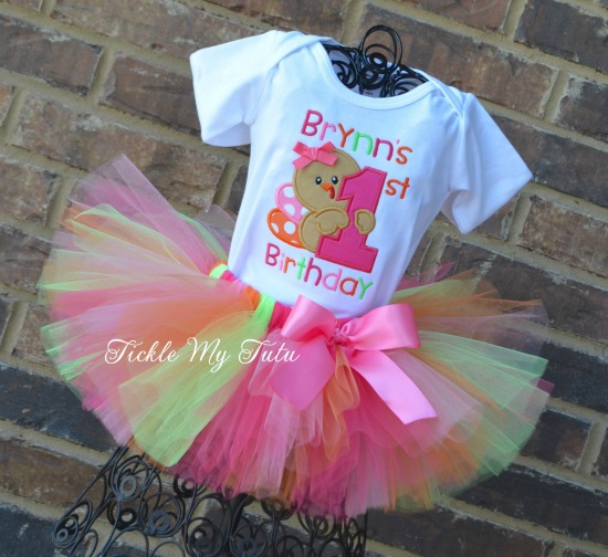 My First Birthday Thanksgiving Turkey Tutu Outfit (Design 3)