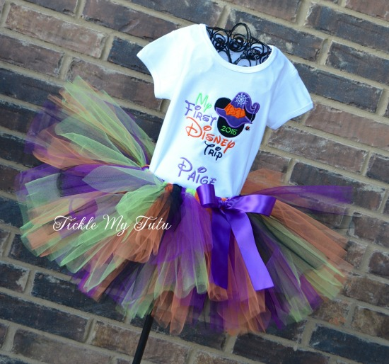 My First Disney Trip Halloween Themed Tutu Outfit