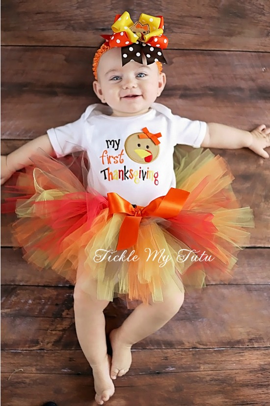 My First Thanksgiving Cutie Turkey Tutu Outfit