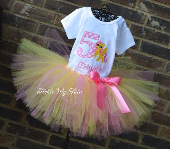 "My Little Pony ""Fluttershy"" Birthday Tutu Outfit"