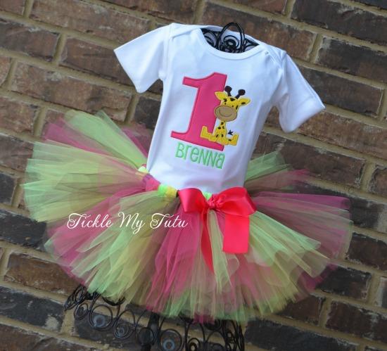 Giraffe Birthday Outfit (Brenna)