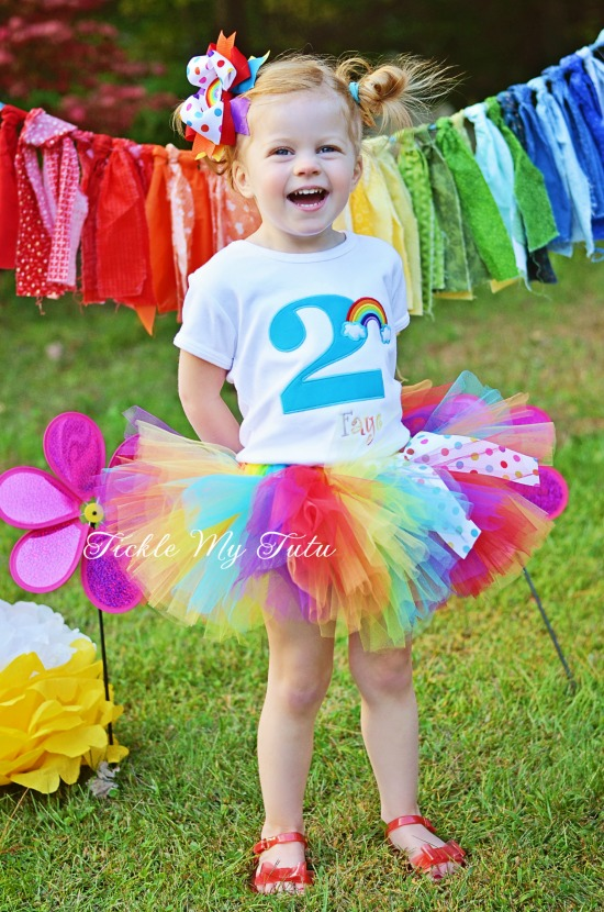 Over the Rainbow Birthday Number Tutu Outfit